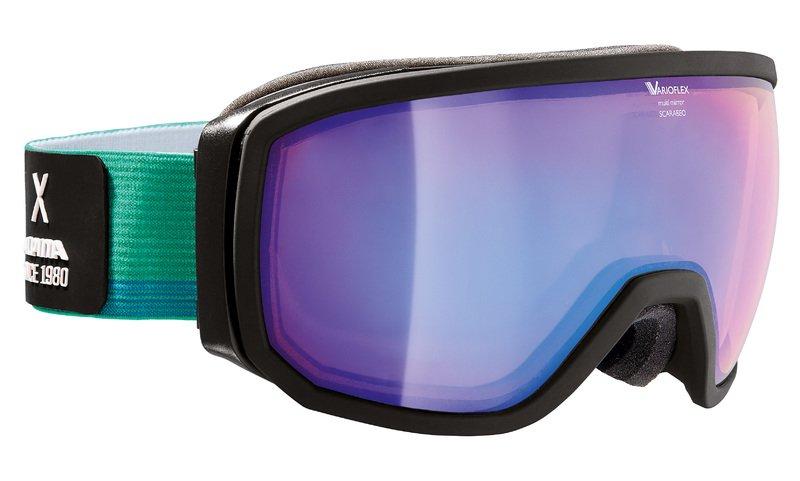 Очки горнолыжные Alpina SCARABEO VMM green/white/blue (coldgreen) (L50), Горнолыжные очки и маски - арт. 1001220418
