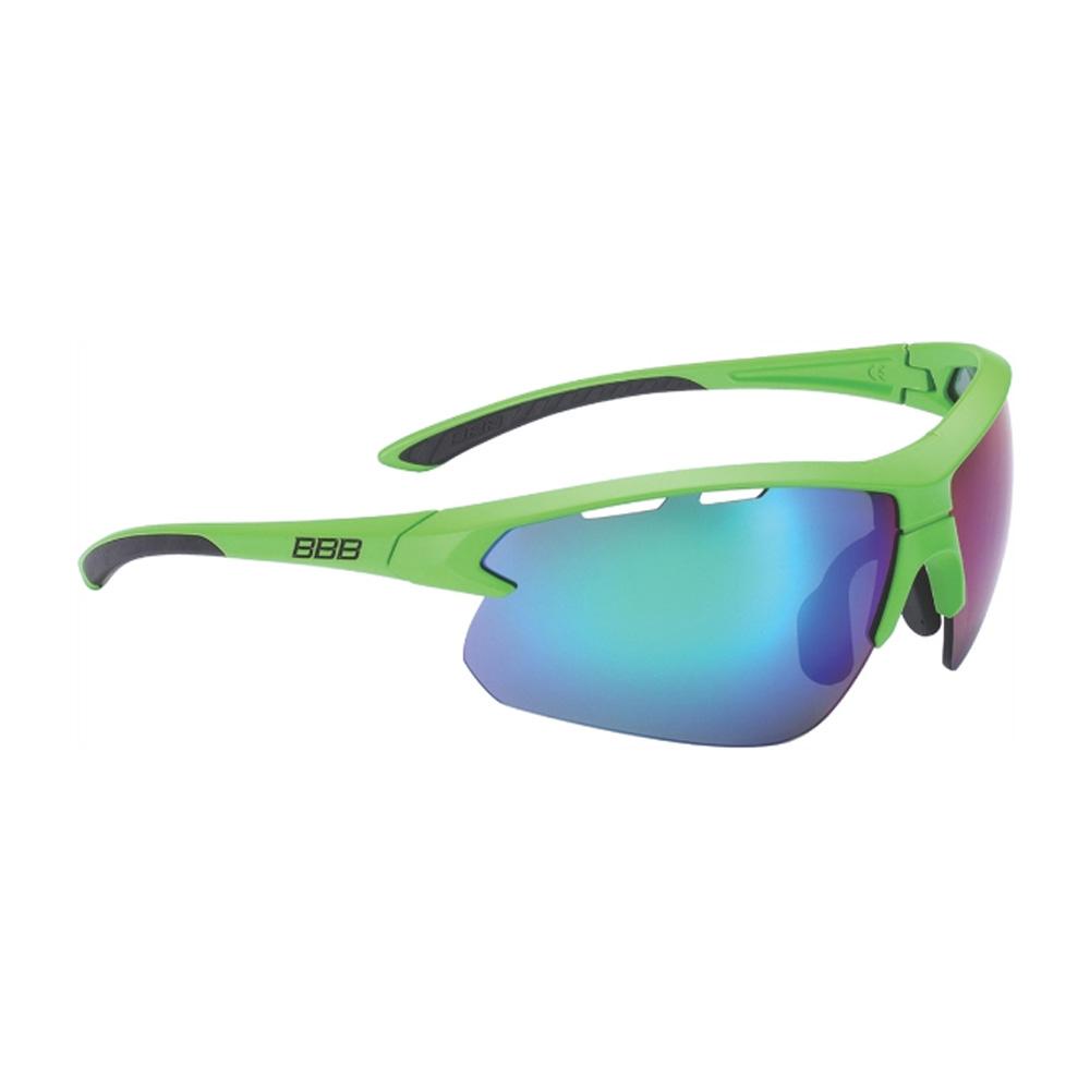 Очки солнцезащитные BBB 2018 Impulse PC Smoke green MLC lenses зеленый, черный, Очки - арт. 1031350161
