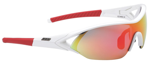 Оправа для велоочков BBB frame Impact glossy white, red temple rubber (BSG-44)