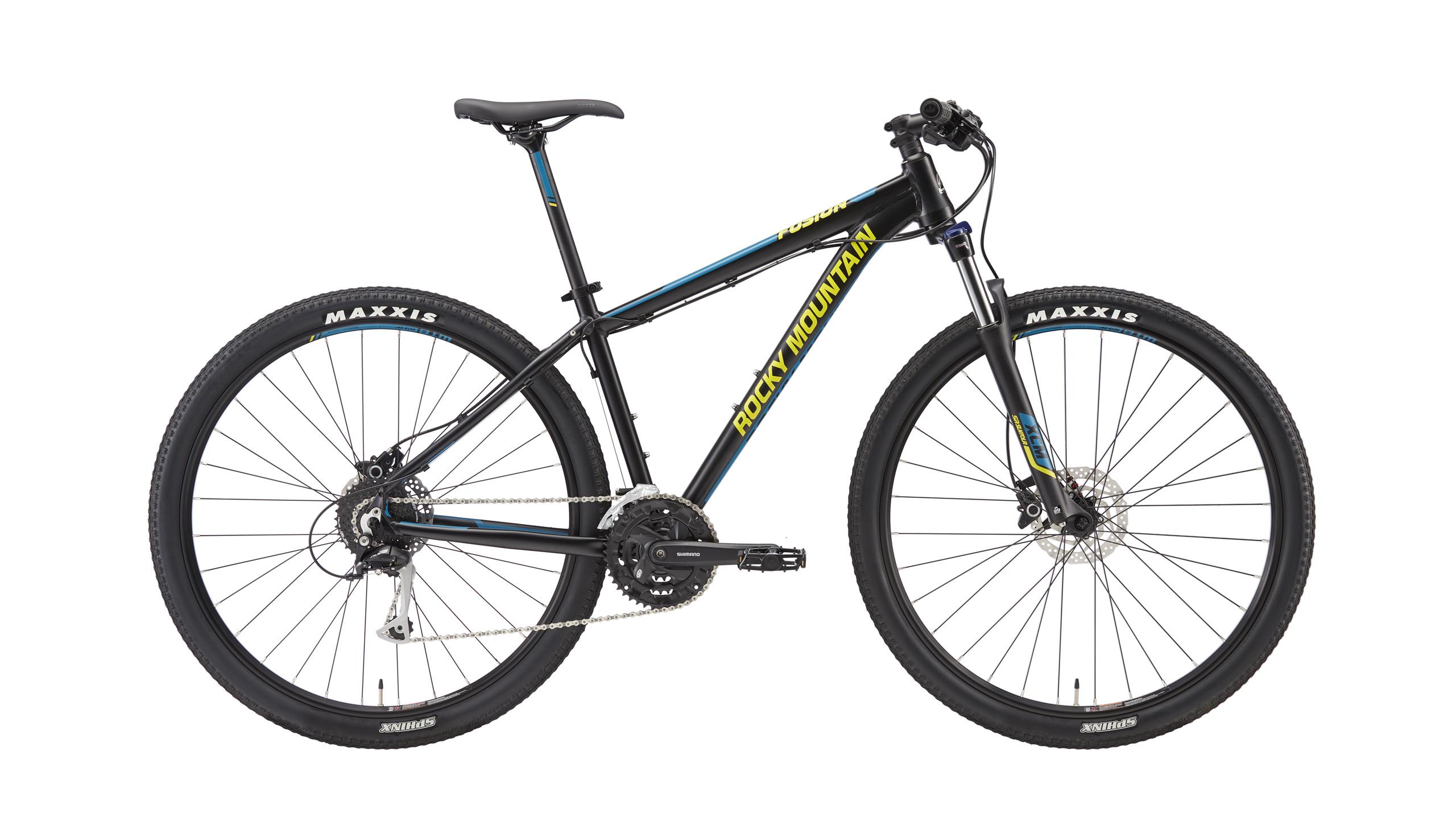 Велосипед ROCKY MOUNTAIN FUSION 920 2016 MATTE BLACK/PETROL/LEMONGRASS