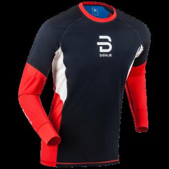 Футболка с длинным рукавом беговая Bjorn Daehlie 2017-18 Long Sleeve Tech Wind High Risk Red - артикул: 973120179