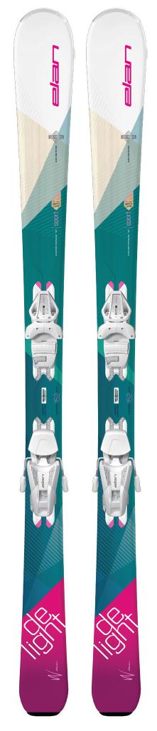Горные лыжи с креплениями Elan 2017-18 DELIGHT CHARM WHITE LS ELW9.0