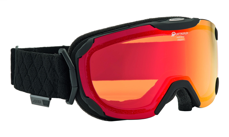 Очки горнолыжные Alpina PHEOS S QMM black mat_QL MM orange S2 (б/р:ONE SIZE), Горнолыжные очки и маски - арт. 970360418