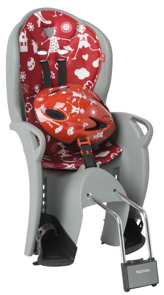 Детское кресло HAMAX KISS SAFETY PACKAGE серый/красный, Велокресла - арт. 577760364