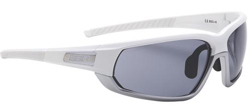 Очки солнцезащитные BBB Adapt Fulframe PC Smoke lenses matt white matt chrome (BSG-45)