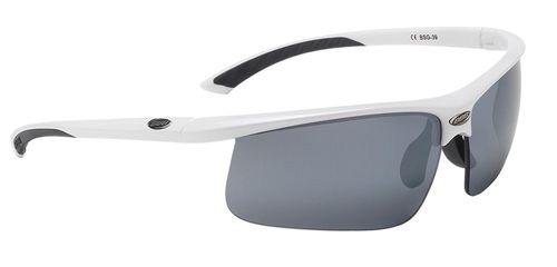 Очки солнцезащитные BBB Winner PC Smoke flash mirror lens black tips white (BSG-39)