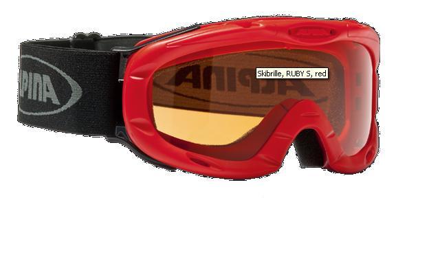 Очки горнолыжные Alpina Ruby S red_SH S1, Горнолыжные очки и маски - арт. 749770418