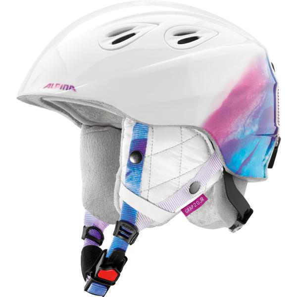 Зимний Шлем Alpina GRAP 2.0 JR white-periwinkle, Горнолыжные и сноубордические шлемы - арт. 926000428