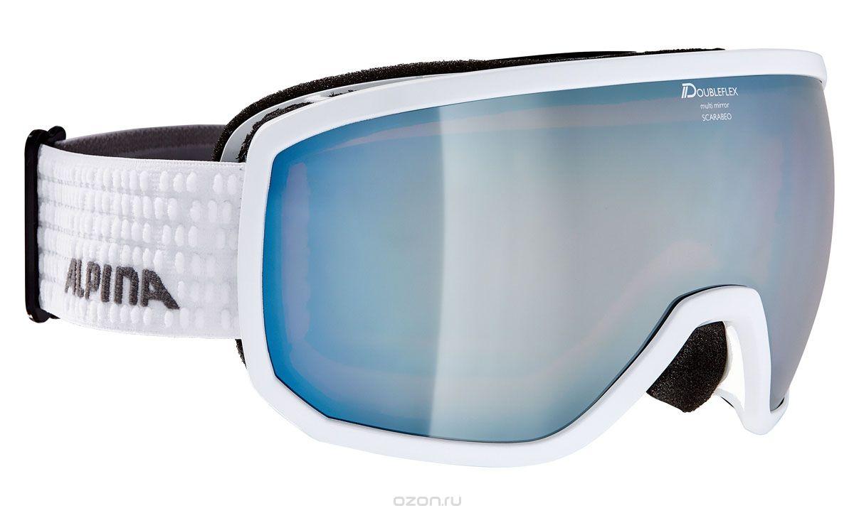 Очки горнолыжные Alpina SCARABEO MM white/grey (white dots) (L50), Горнолыжные очки и маски - арт. 999430418
