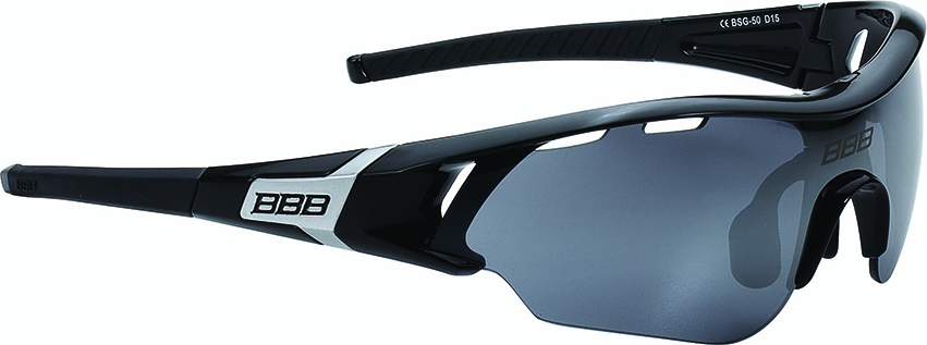 Очки солнцезащитные BBB 2018 Summit PC Smoke flash mirror lens черный, серебряный