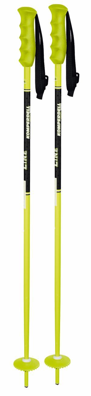Горнолыжные палки KOMPERDELL 2017-18 Alpine universal Offence yellow 14mm