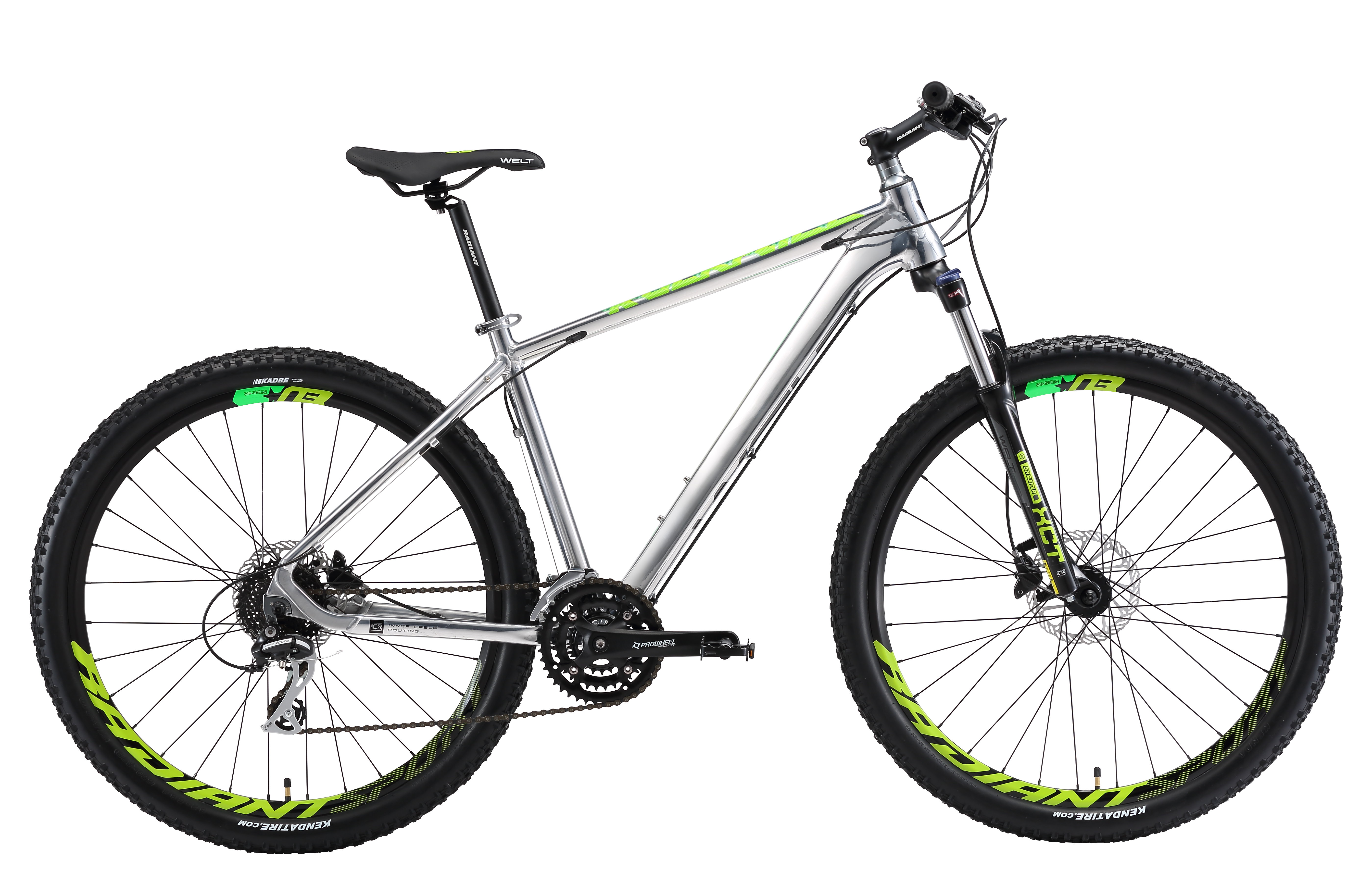 Велосипед Welt 2018 Rockfall 1.0 SE polish silver/acid green, Велосипеды - арт. 1030950390