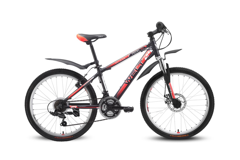 Велосипед Welt Peak 24 Disc 2016 matt black/red