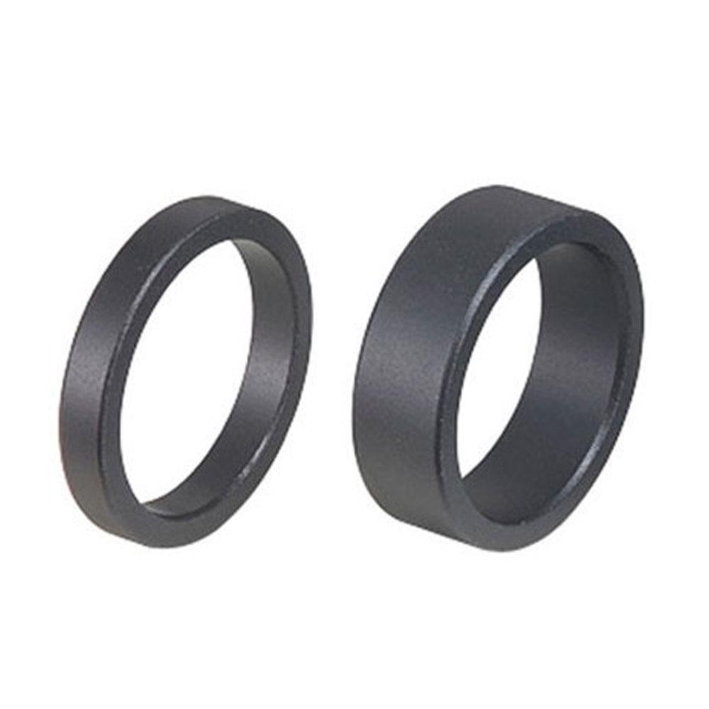 Проставочные кольца BBB AluSpace 1-1/8 black 15mm, 50pcs polybag-поштучно (BHP-33OEM 15mm, 50pcs-поштучно)