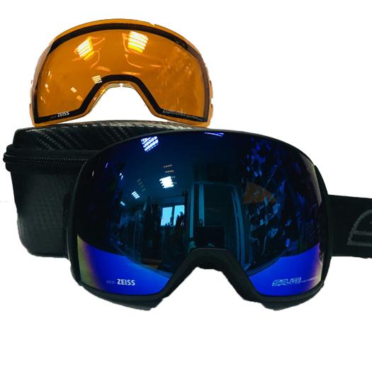 Очки горнолыжные Salice 605DARWF w. Coffre & Spare Lens BLACK-CHARCOAL/RW BLUE + SONAR, Горнолыжные очки и маски - арт. 1064660418