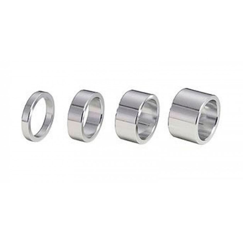 Рулевая колонка BBB Проставочные кольца 1 AluSpace 5/10/15/20 mm silver (комп.) (BHP-32)