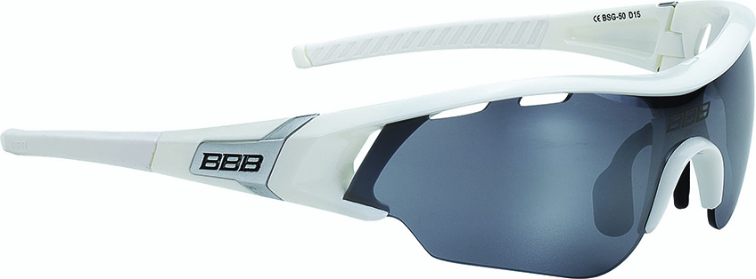 Очки солнцезащитные BBB 2018 Summit PC Smoke flash mirror lens белый, серебряный