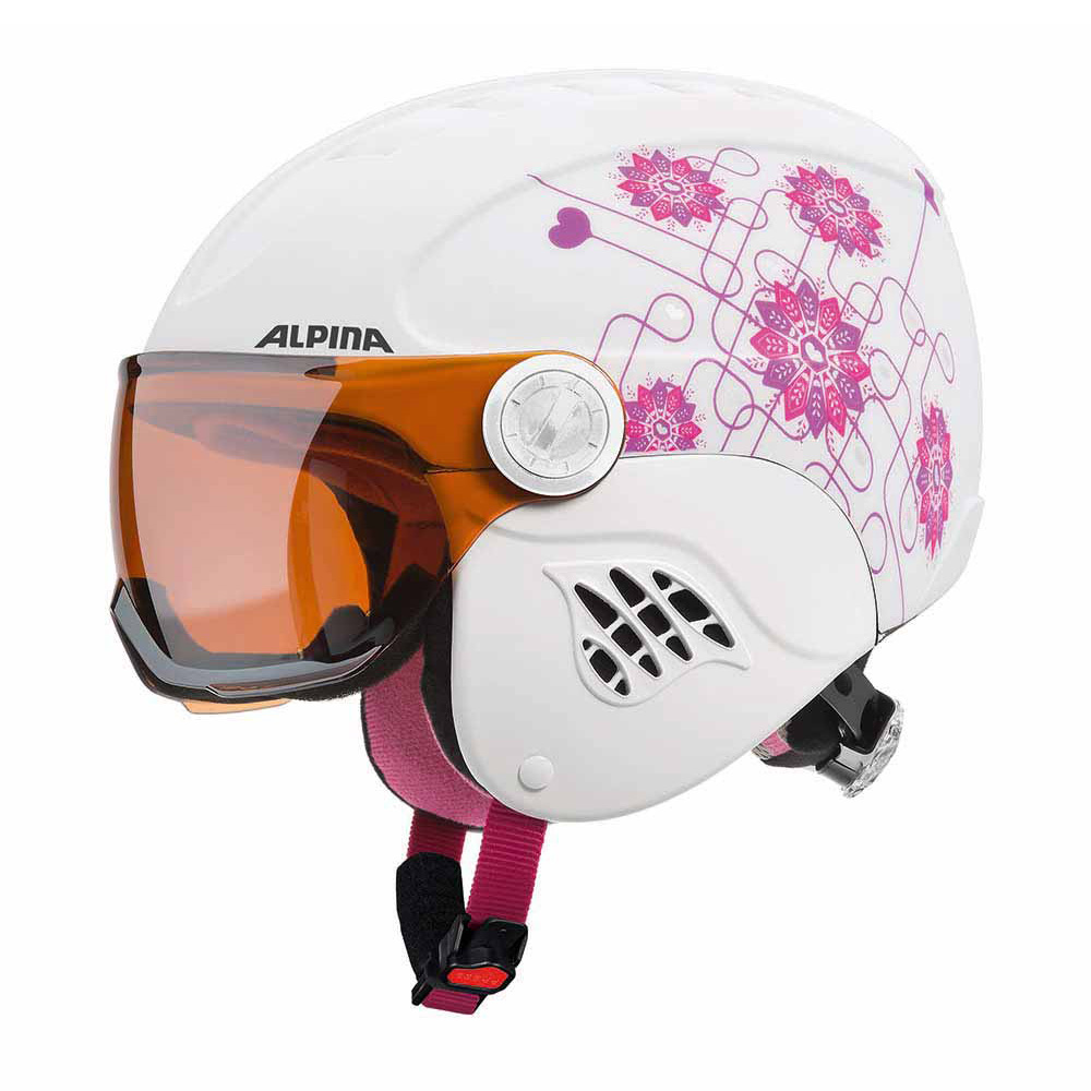 Зимний Шлем Alpina CARAT VISOR white-pink