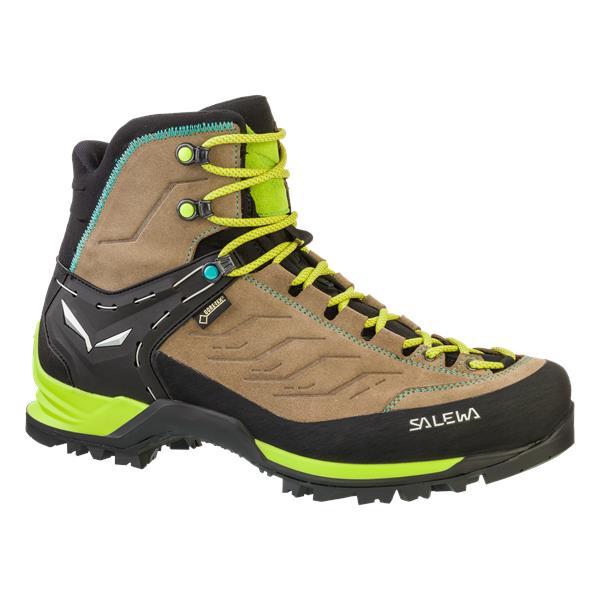 Ботинки для треккинга (низкие) Salewa 2017-18 WS MTN TRAINER MID GTX Walnut/Swing Green (UK:7), Треккинговая обувь - арт. 970350252
