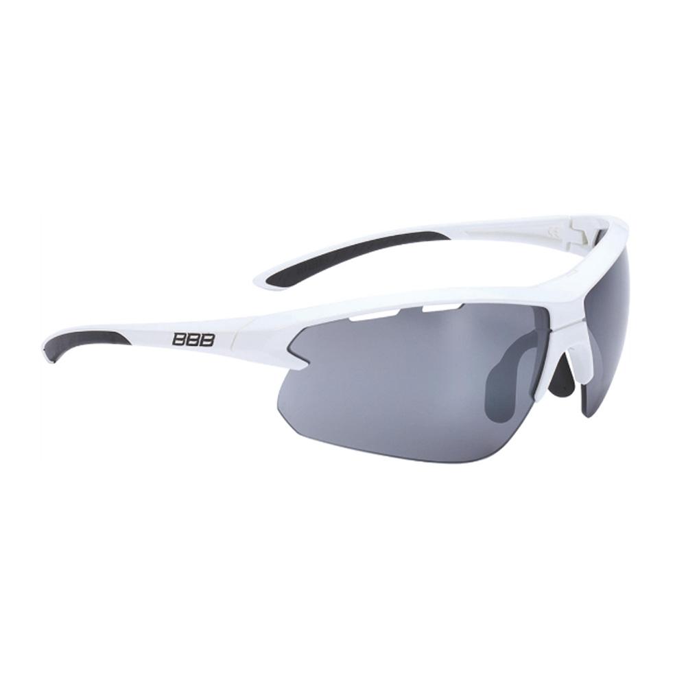 Очки солнцезащитные BBB 2018 Impulse PC Smoke flash mirror lenses белый, черный, Очки - арт. 1031340161