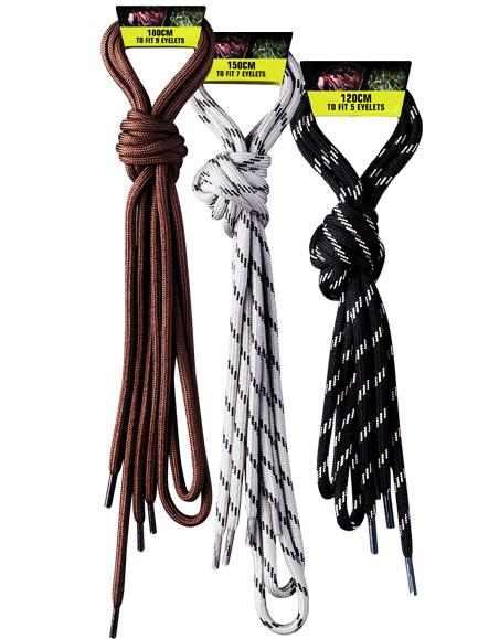 Шнурки GRANGERS Laces Laces 120cm black/grey