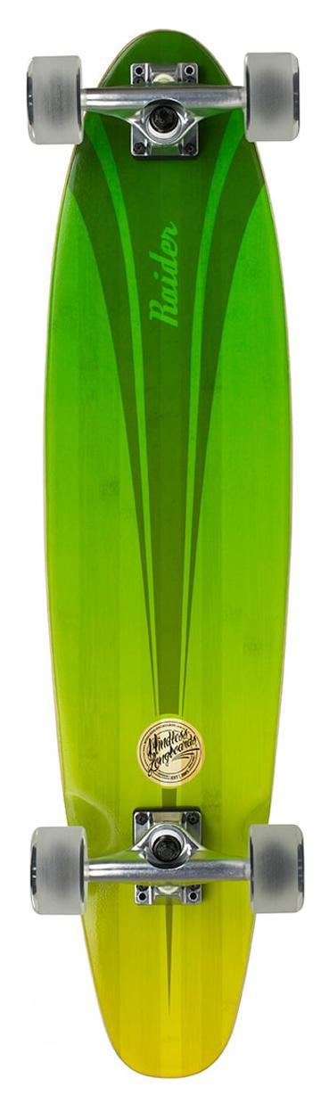 Лонгборд в сборе Mindless 2018 Raider IV 34 x 8 Green/Yellow, Скейтборды и лонгборды - арт. 1023520431