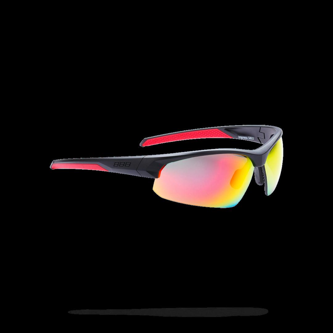 Очки солнцезащитные BBB 2018 Impress PC smoke red lenses черный матовый, Очки солнцезащитные - арт. 1022060413