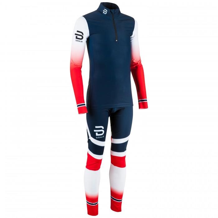Комплект беговой Bjorn Daehlie 2017-18 Racesuit Nations 2-Piece Jr Norwegian Flag (US:164), Летние костюмы - арт. 972860260