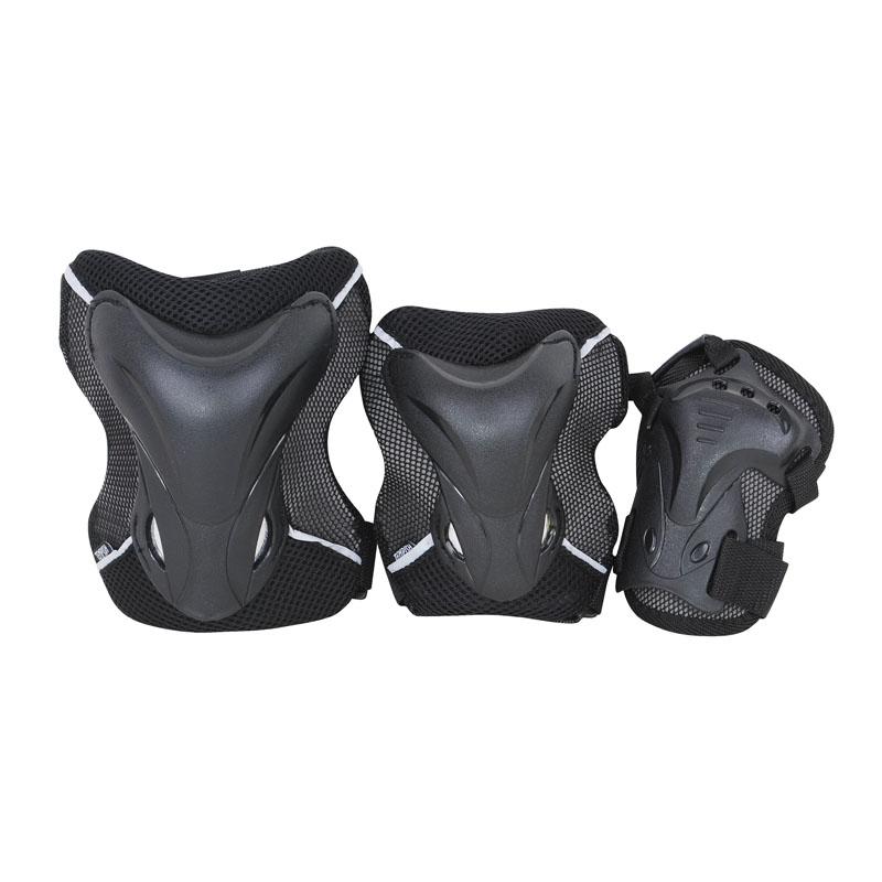 Комплект 3-х элементов защиты TEMPISH 2017 JOLLY black, Защита при езде на роликовых коньках - арт. 830060432
