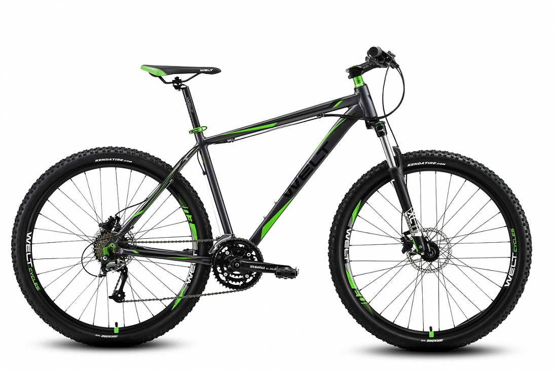 Велосипед Welt 2018 Rockfall 1.0 matt grey/green (US:S), Велосипеды - арт. 997550390
