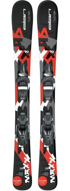 Горные лыжи с креплениями Elan 2017-18 MAXX BLACK RED QS EL 7.5