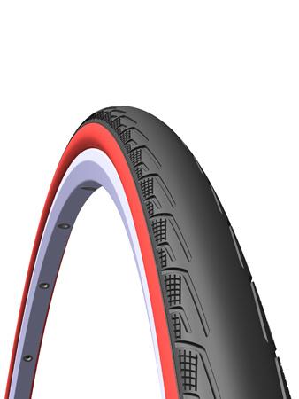 Велопокрышка RUBENA V80 SYRINX 700 x 23C (23-622) CL черный/красный