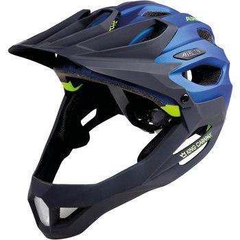 Велошлем Alpina 2018 King Carapax darkblue-neon