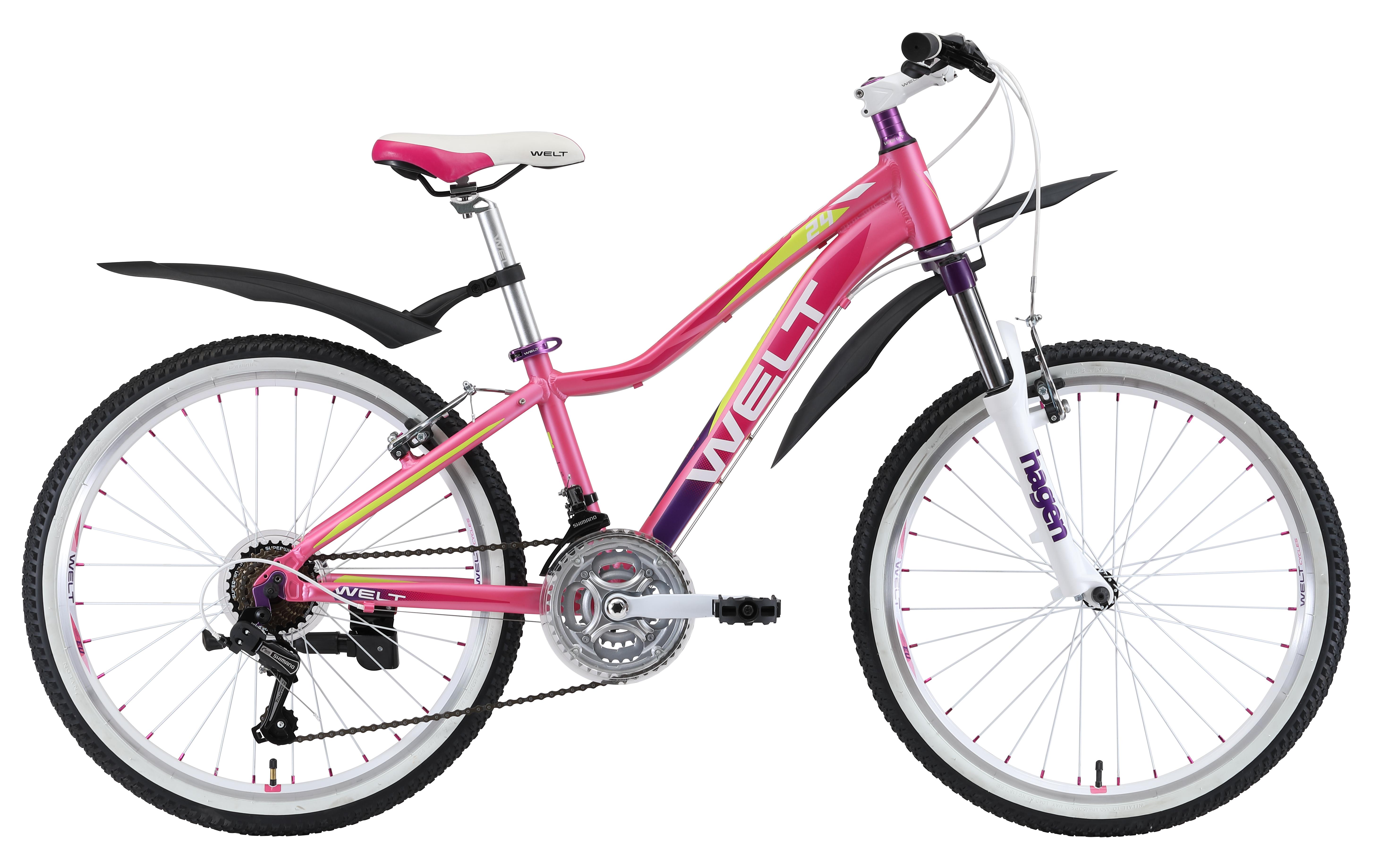Велосипед Welt 2018 Edelweiss 24 white/red/orange, Велосипеды - арт. 1029190390