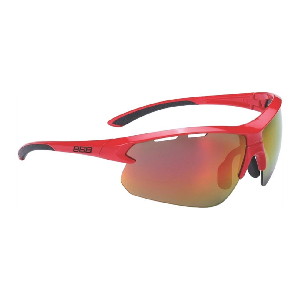 Очки солнцезащитные BBB 2018 Impulse PC Smoke red MLC lenses красный, черный, Очки - арт. 1031390161