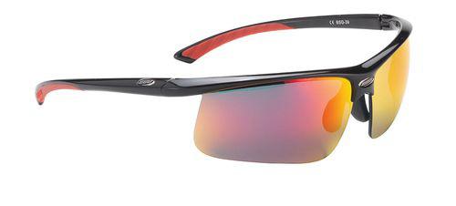 Очки солнцезащитные BBB Winner PC Smoke red MLC lens red tips glossy black (BSG-39)