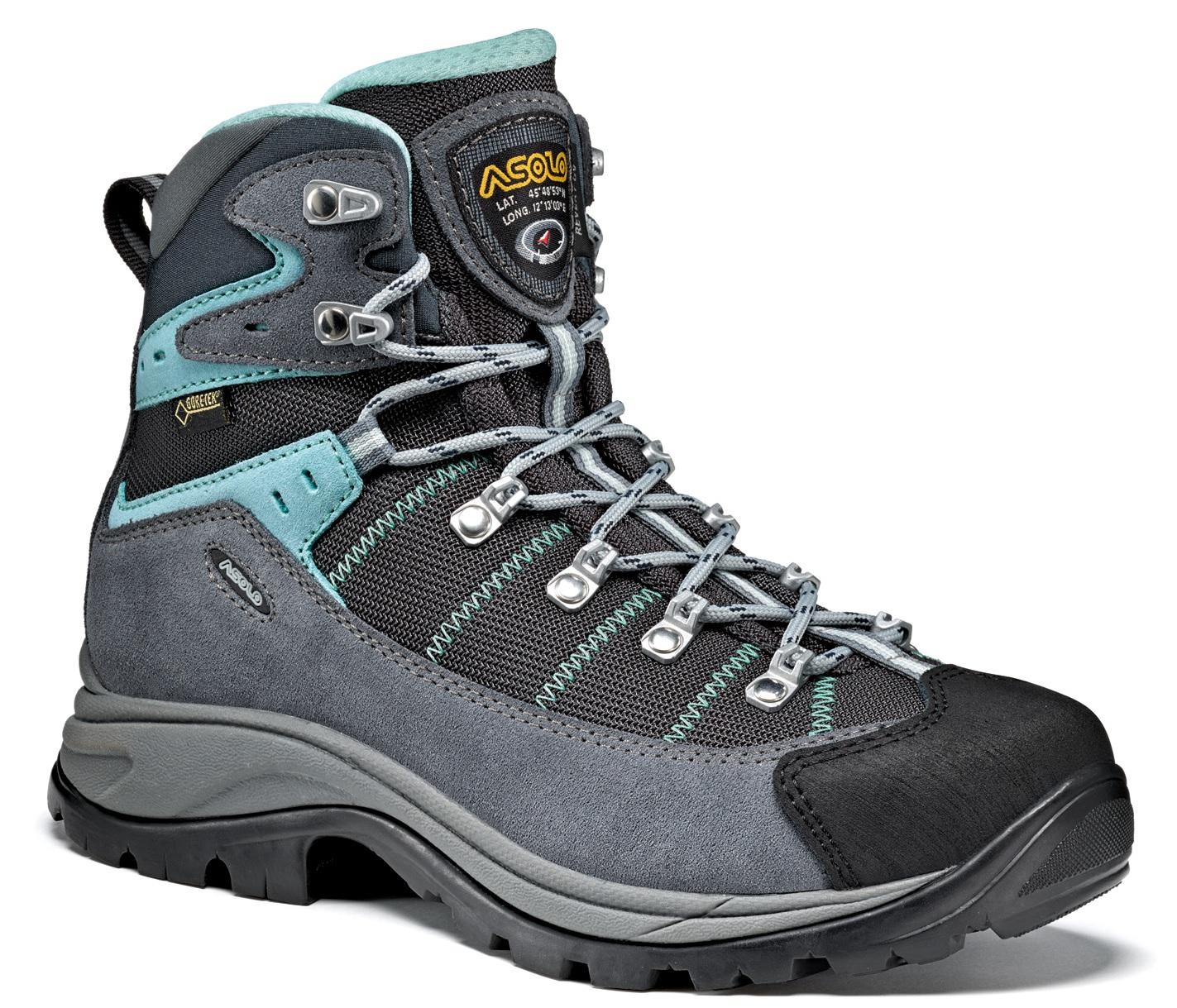 Ботинки для хайкинга (высокие) Asolo 2017-18 Hike Revert GV ML Grey / Gunmetal /Pool side (UK:6), Треккинговая обувь - арт. 973320252