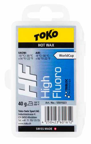 Универсальный парафин TOKO TRIBLOC TRIBLOC HF (синяя, -10/-30С, 40 гр.) - артикул: 604840435