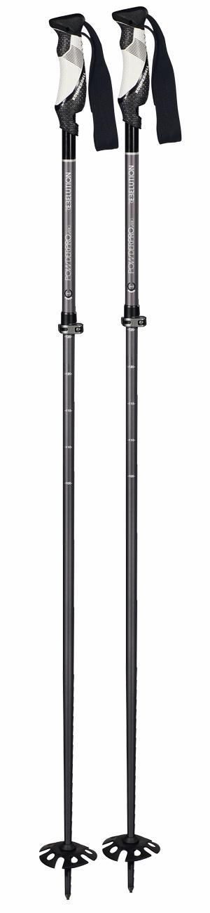 Горнолыжные палки KOMPERDELL 2017-18 Alpine universal Powder Pro vario [110-135] black, Горные лыжи - арт. 1030750420