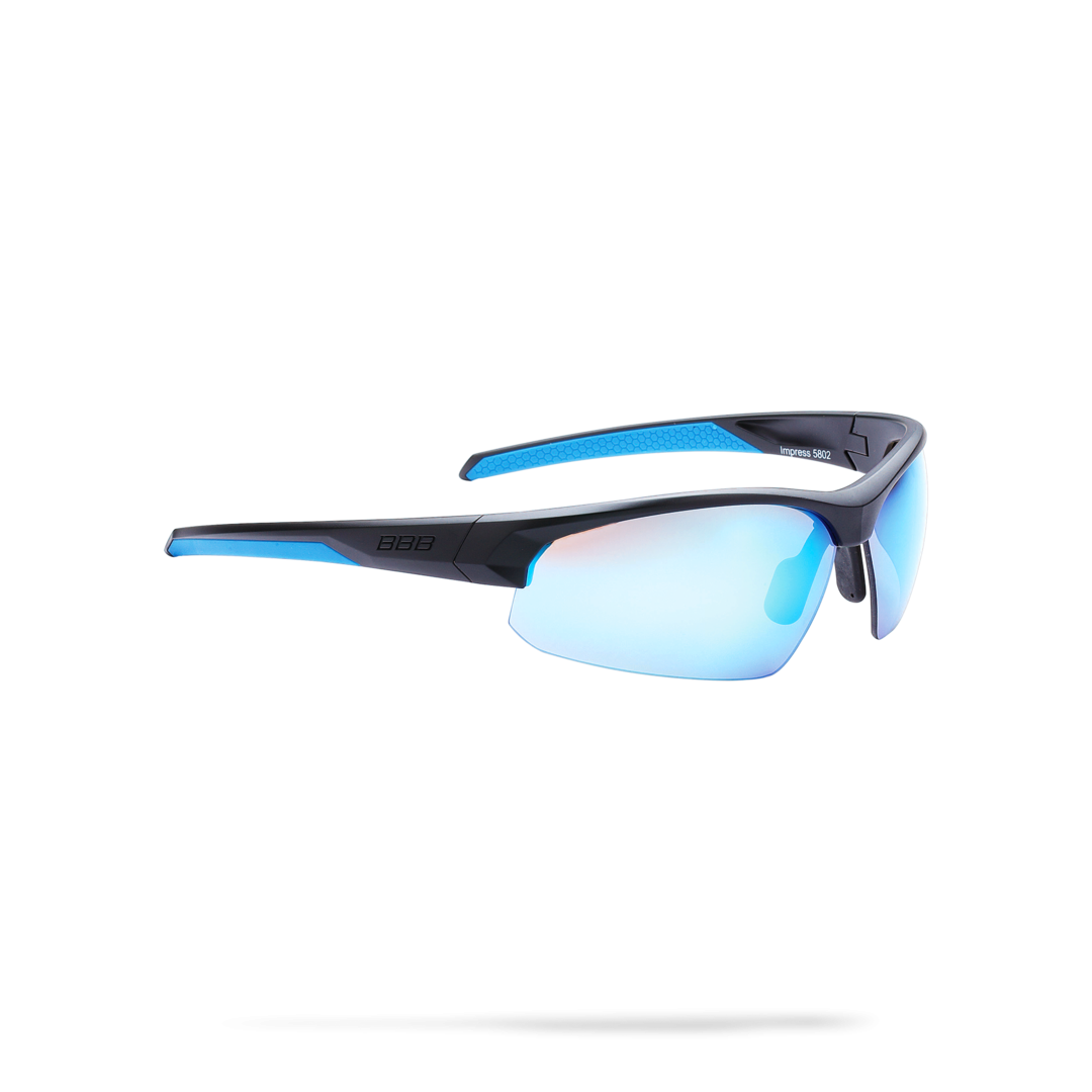 Очки солнцезащитные BBB 2018 Impress PC smoke blue lenses черный матовый, Очки солнцезащитные - арт. 1022320413