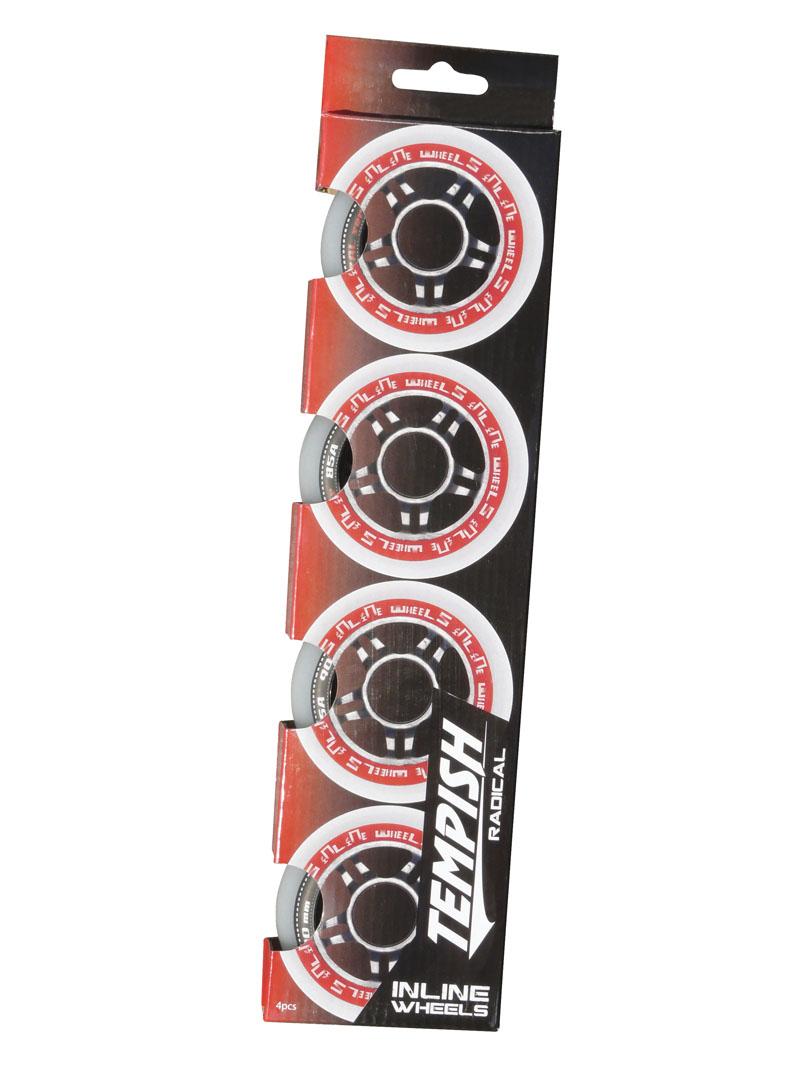 Комплект колёс для роликов TEMPISH 2016 RADICAL 80x24mm 84A (1*4pcs) Белый, Роликовые коньки - арт. 818710430