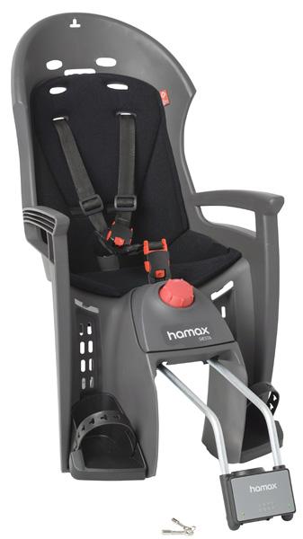 Детское кресло HAMAX SIESTA W/LOCKABLE BRACKET серый/черный, Велокресла - арт. 577830364