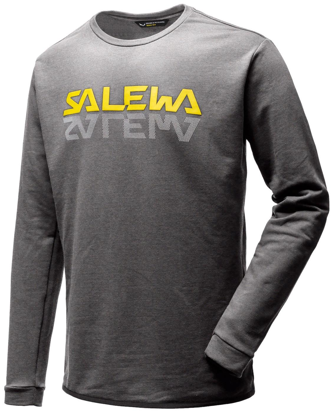 Футболка с длинным рукавом для активного отдыха Salewa 2018 REFLECTION DRI-REL M SWTR grey melange, Футболки - арт. 1042990179