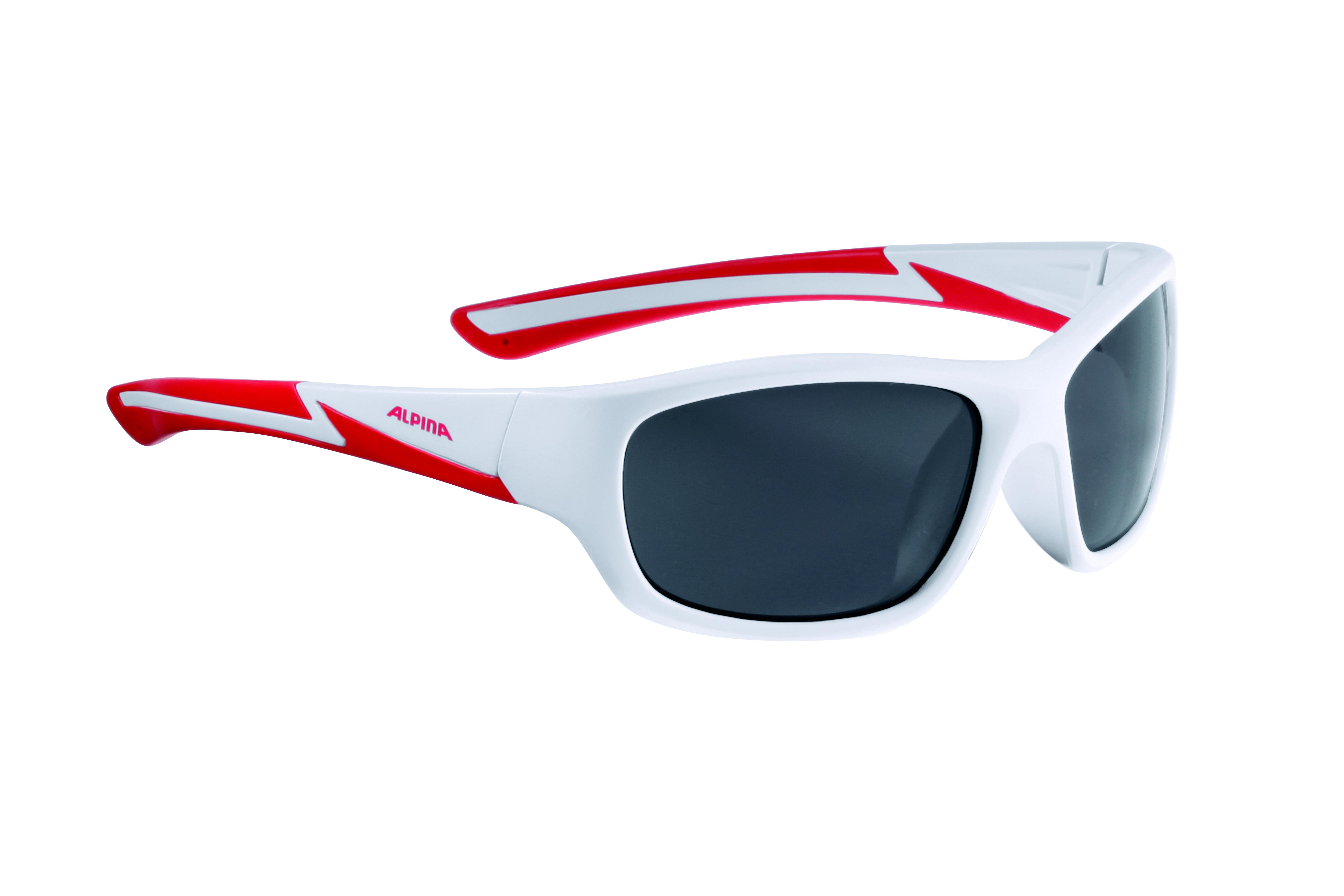 Очки солнцезащитные ALPINA 2017 FLEXXY YOUTH white matt-red