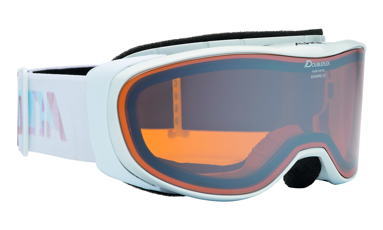 Очки горнолыжные Alpina BONFIRE 2.0 MM pearlwhite_HM Orange S2, Горнолыжные очки и маски - арт. 749680418