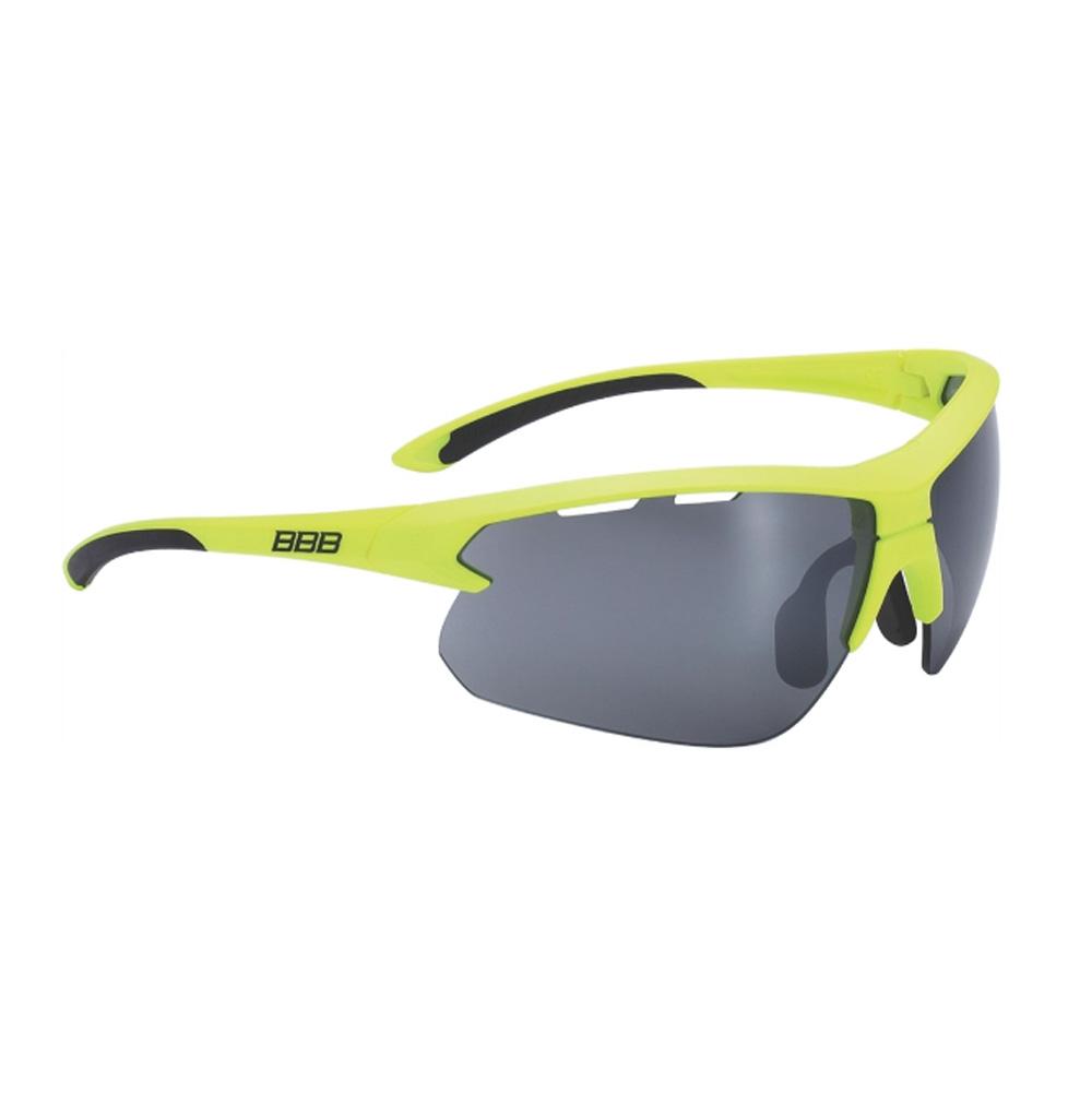 Очки солнцезащитные BBB 2018 Impulse PC Smoke flash mirror lenses желтый, черный, Очки - арт. 1031370161