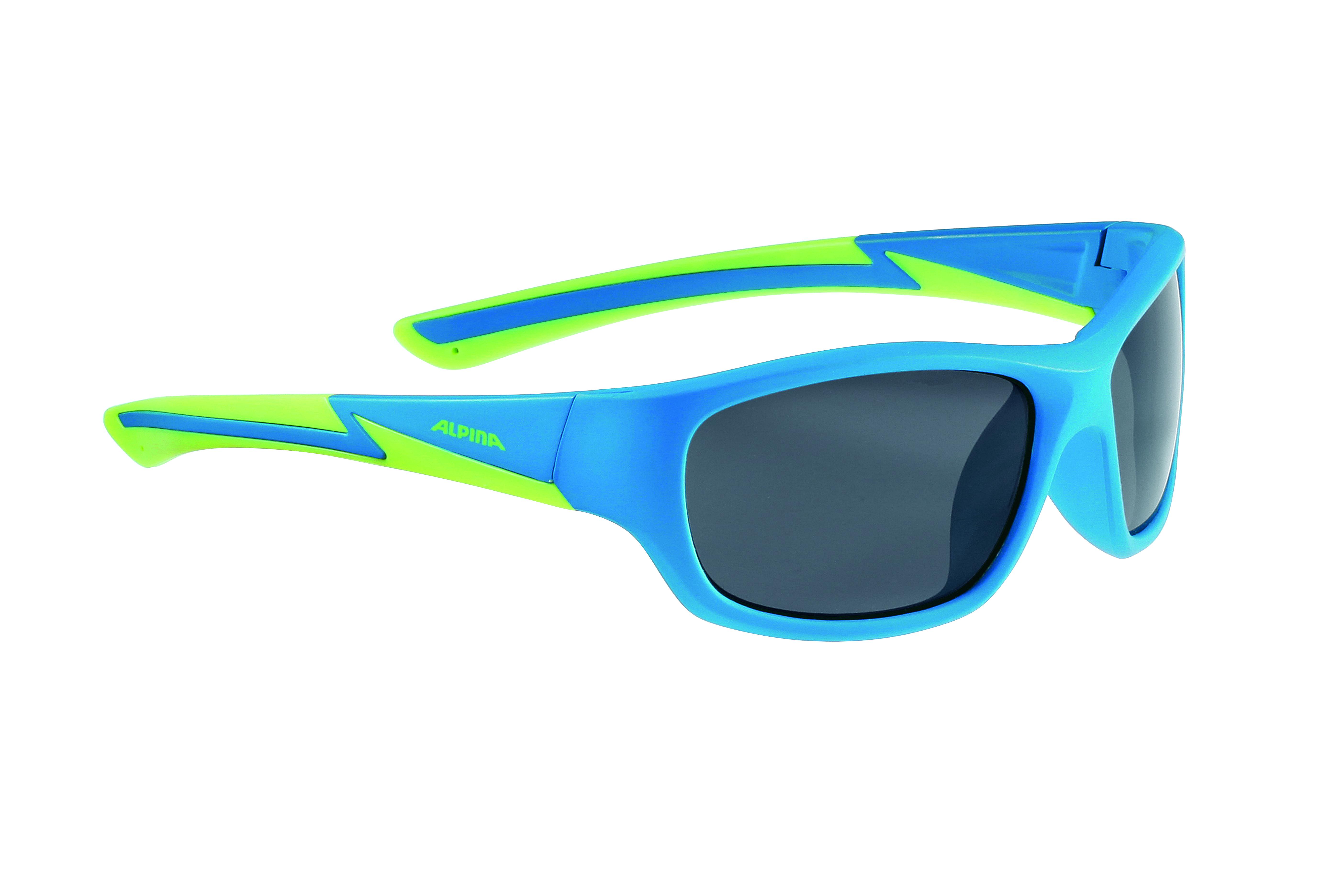 Очки солнцезащитные ALPINA 2017 FLEXXY YOUTH blue matt-lime
