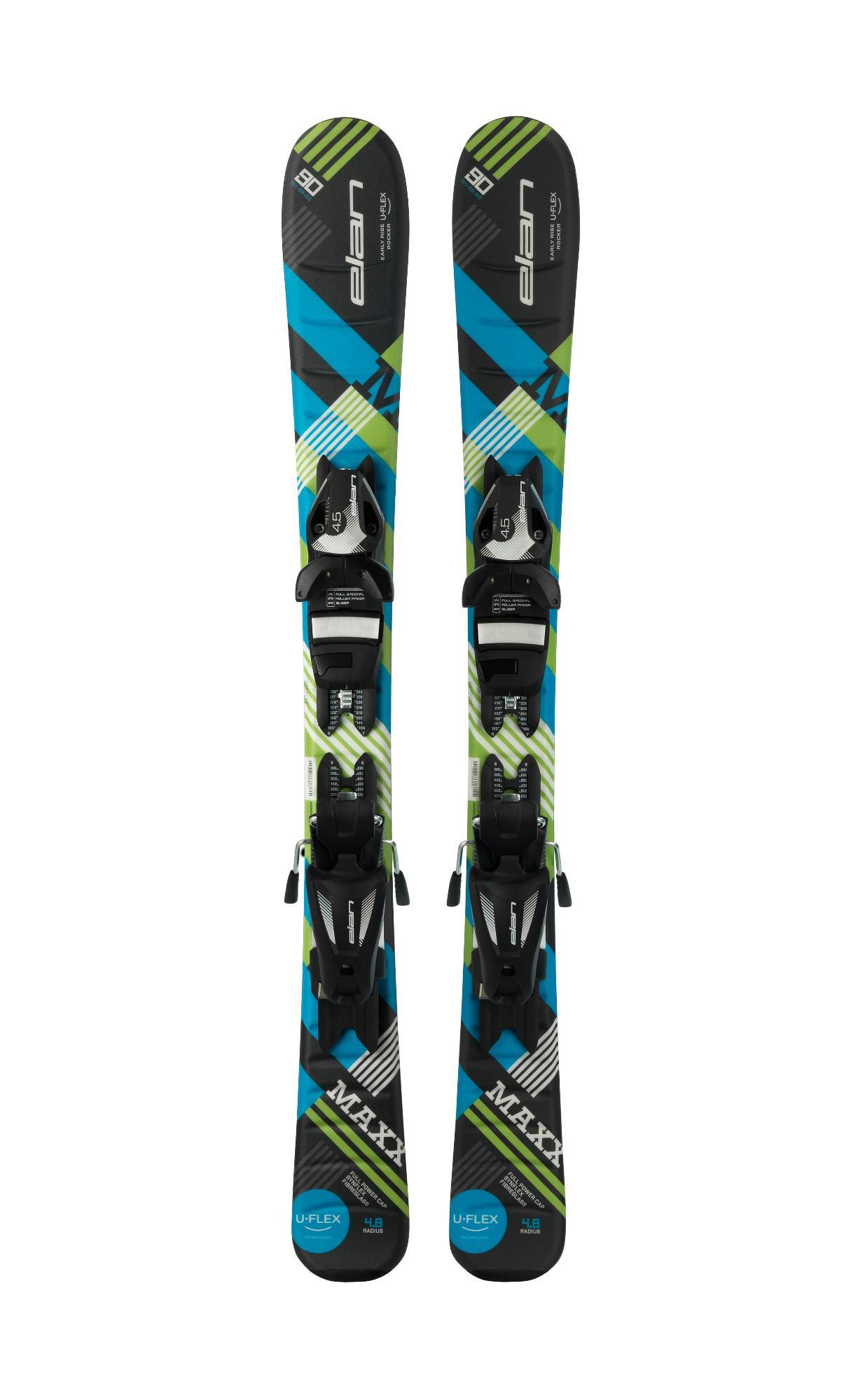Горные лыжи с креплениями Elan 2017-18 MAXX BLACK RED QS EL 4.5
