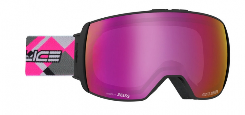 Очки горнолыжные Salice 605DARWF w. Coffre & Spare Lens BLACK-PURPLE/RW VIOLET + SONAR (б/р:ONE SIZE), Горнолыжные очки и маски - арт. 969270418