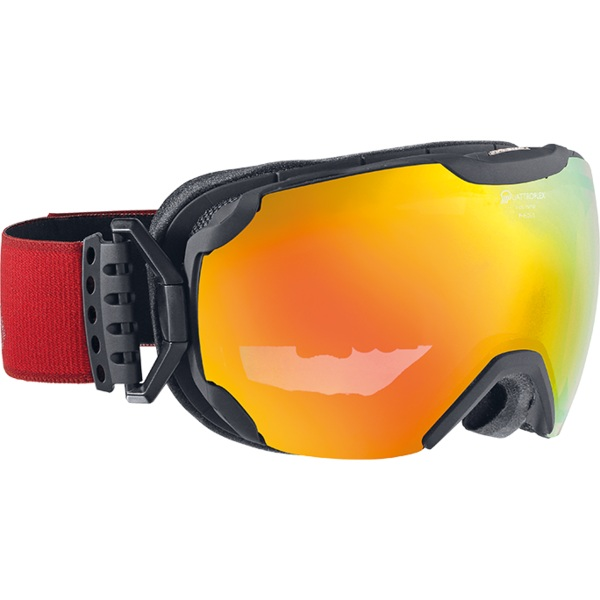 Очки горнолыжные Alpina PHEOS S QMM black matt_QMM red sph. S2, Горнолыжные очки и маски - арт. 750000418